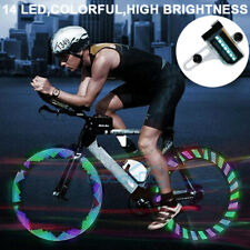 30 Changes LED Bicycle Bike Cycling Rim Lights Auto Open Close Wheel Spoke Light
