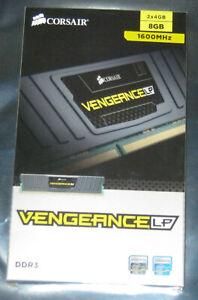 8GB Corsair VENGEANCE LP DDR3 RAM 1600MHz PC3-12800 DIMM CL9 CML8GX3M2A1600C9
