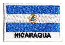 Ecusson patche drapeau NICARAGUA 70x45mm brodé à coudre