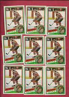 9 X 1984-85 TOPPS # 90 DEVILS PAT VERBEEK ROOKIE NRMT-MT CARD