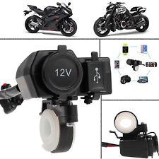 12V Motorrad Zigarettenanzünder Buchse USB Steckdose Adapter Lenker Wasserdicht