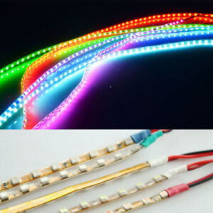 2X 135CM 135leds SMD Super Thin 4mm Car Led Strip Light Flexible Waterproof 12V