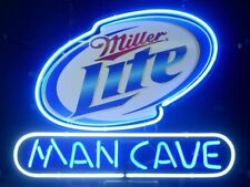 """New Man Cave Miller Lite Neon Light Sign 14""""x10"""" Beer Cave Gift Real Glass"""