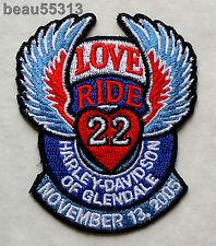 HARLEY DAVIDSON GLENDALE CALIFORNIA DEALER MDA 2005 22nd LOVE RIDE VEST PATCH