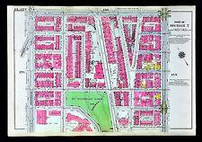 1921 New York City Map Manhattan Riverside St. Nicholas Park 139th-145th Street