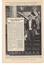 1915 Sanatogen The Bauer Chemical Co. Advertisement