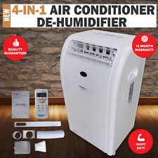 Name Brand Reverse Cycle Portable 4-in-1 Air Conditioner De-Humidifier Heating