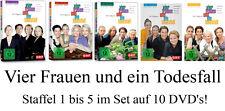 10 DVDs  * VIER FRAUEN UND EIN TODESFALL , STAFFEL 1 - 5 IM SET # NEU OVP %