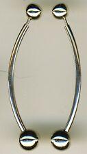 """925 Sterling Silver Ball & Bar Stud Drop / Dangle  Earrings  L 48mm   1.7/8"""" med"""