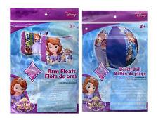 "Disney Princess Sofia The First KIDS Inflatable Swim Arm Floats + 20"" Beach Ball"