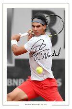 Rafa Nadal histórico 8 French Open de Tenis Firmado Autógrafo Foto Impresión