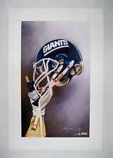 "New York Giants NFL Football 20"" x 30"" Team Lithograph Print (scarce)"