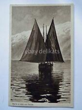 LAGO DI GARDA barca vela Brescia vecchia cartolina 2084