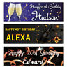 2 personalised birthday banner champagne star party poster-18th 21st 30th 40th
