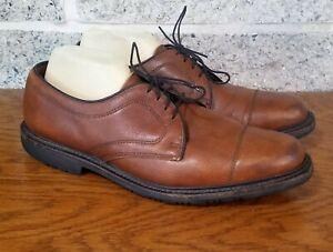 ALLEN EDMONDS MENS BROWN BECKER CAP TOE OXFORD DRESS LACE UP SHOES SIZE US 10 3E