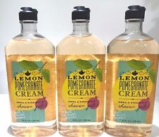 3 Bath & Body Works Lemon Pomegranate Cream Shower gel body wash