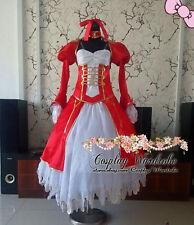 Fate Stay Night Saber Fate Zero Saber Nero Cosplay Costume Red dress Custom made