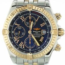 BREITLING CHRONOMAT EVOLUTION STAINLESS STEEL & RED GOLD C13356 MINT CONDITION