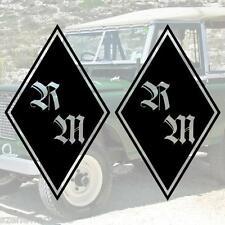 XS Aufkleber Set Raute mit Initialen für Truck / LKW Sticker Tuning Decal Dekor