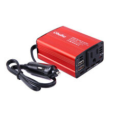 150W Car Power Inverter DC 12V to AC 110V Converter With  2 USB Ports