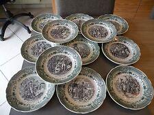Très belle série d'assiette parlante thème Napoléon estampillé Sarreguemines
