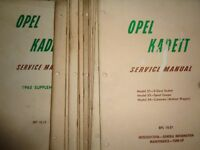 1964 1965 Opel Kadett Shop Service Manual Set of 11 + 1965 Supplement