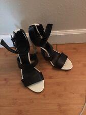 Calvin Klein Heel Shoes Black And White Size 8 1/2 Medium
