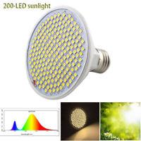 Full Spectrum 200 LED plant Grow light lamp bulb indoor Sunlike yellow Fitolamp