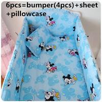 Disney mickey mouse crib sheet baby bedding cot set 6pcs Nursery girl infant NEW