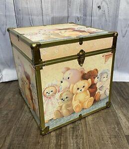 Vintage Ruane Manning Trunk Chest Storage Box Teddy Bears (Lisa Frank Style) Usa