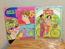 Vintage UNCUT, UNUSED paper doll books 1970, 1980, 1981 - LOT OF 3