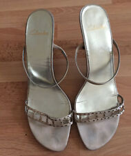 Clark's Gold Embellished Strappy Sandals - Size 7