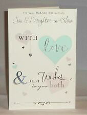 On Your Wedding Anniversary Son & Daughter-in-Law - 3D Wedding Anniversary Card