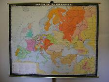 School Wall Map Nice Old Wall Map School Map Europe Jahrh 16. 199x157cm 1981