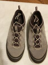 Woman's Size 9 Ecco Beige & Brown Pull Tab Lace Walking Shoes