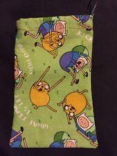 Handmade Fabric Cotton Sunglasses Case Adventure Time Jake Finn Print Drawstring