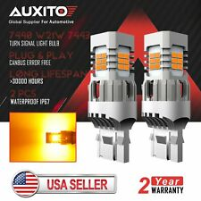 AUXITO 7443 7440 Anti Hyper Flash Amber LED Turn Signal Light Yellow Error Free