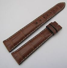ZENITH, genuine brown crocodile  watch band 17/14mm, NEW from STOCK