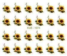 Nail Art Water Transfer Stickers Decal Pretty Sunflowers KoB-1074