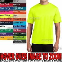 Mens Dri Tek T-Shirt Moisture Wicking Dri Fit XS, S, M, L, XL, 2XL, 3XL, 4XL NEW