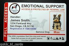 Holographic Emotional Support Animal ID Card  Service Dog ID Badge 8 ESA R