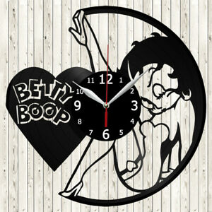 Betty Boop Vinyl Record Wall Clock Decor Handmade 5147