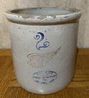 Vintage 2 Gallon Red Wing Large Wing Crock - Nice Condition