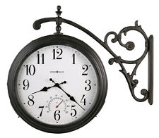 HOWARD MILLER 2 SIDED INDOOR/OUTDOOR WITH THERMOMETER  WALL CLOCK 625-358 LUIS