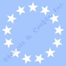 "1"" STAR STENCIL 13 STARS CIRCLE STENCILS TEMPLATE TEMPLATES BACKGROUND NEW"