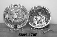 "STAINLESS WHEEL SIMULATORS 1984-2006 FORD E-350 16/"" DUALLY 8 HAND HOLE 8 LUG"