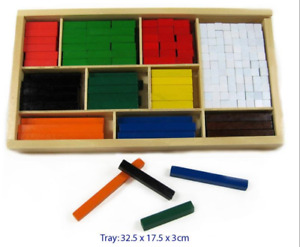 CUISENAIRE RODS Learn Maths Counting Colour Fraction Wooden Educational Toy Kids