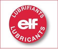 ELF autocollant bouchon huile Renault decal sticker aufkleber