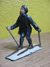 FIGURINE  GM  LR DC HR PLOMB CREUX CHASSEUR ALPIN A SKIS