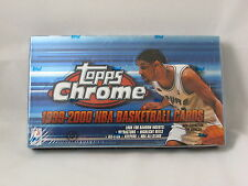 1999-2000 Topps Chrome Basketball Hobby Box factory sealed